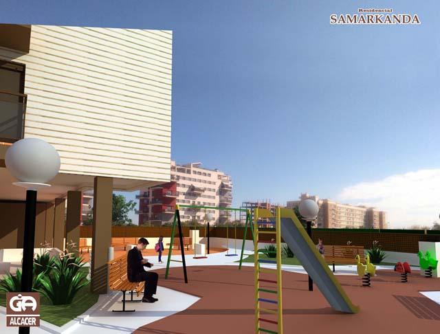 Parque de Juegos Residencial Samarkanda Cristina Fortanet