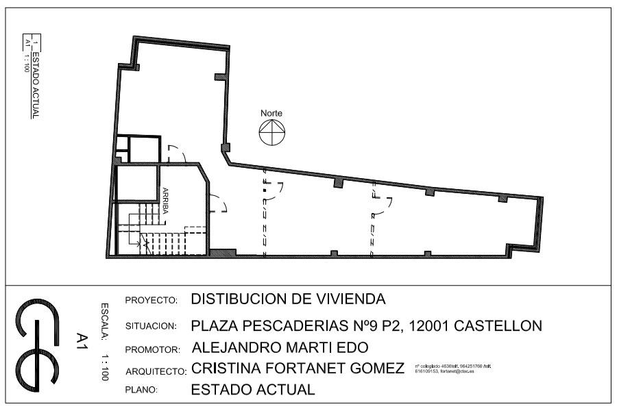 El Arquitecto Cristina Fortanet transforma oficinas en vivienda